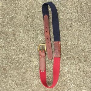 Tommy Hilfiger red / blue / leather belt